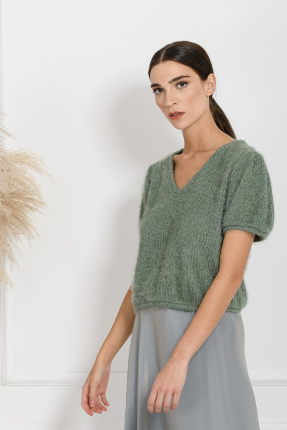 MOHAIR TOP MINT OS