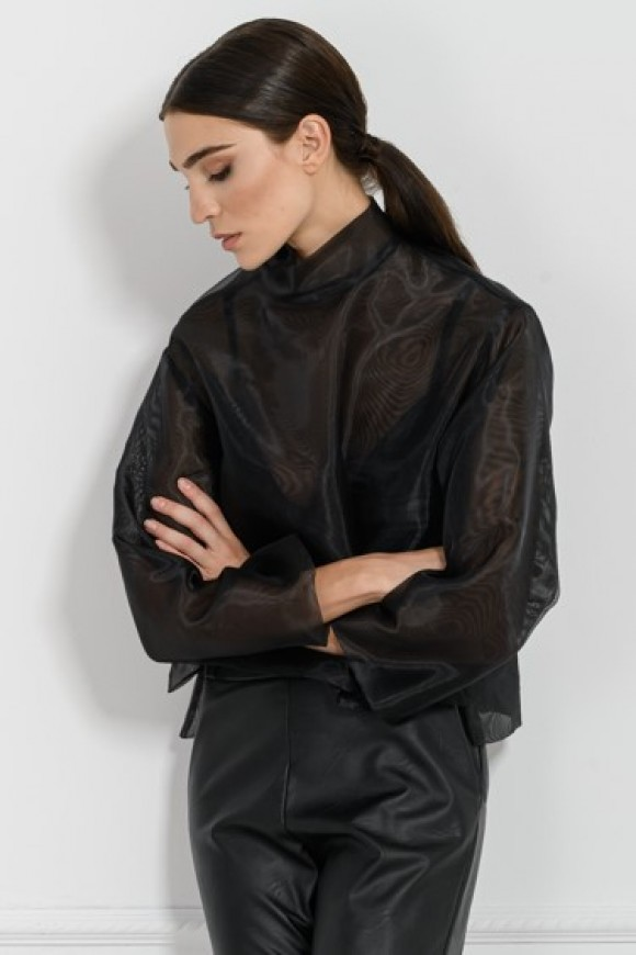 ORGANZA TOP BLACK