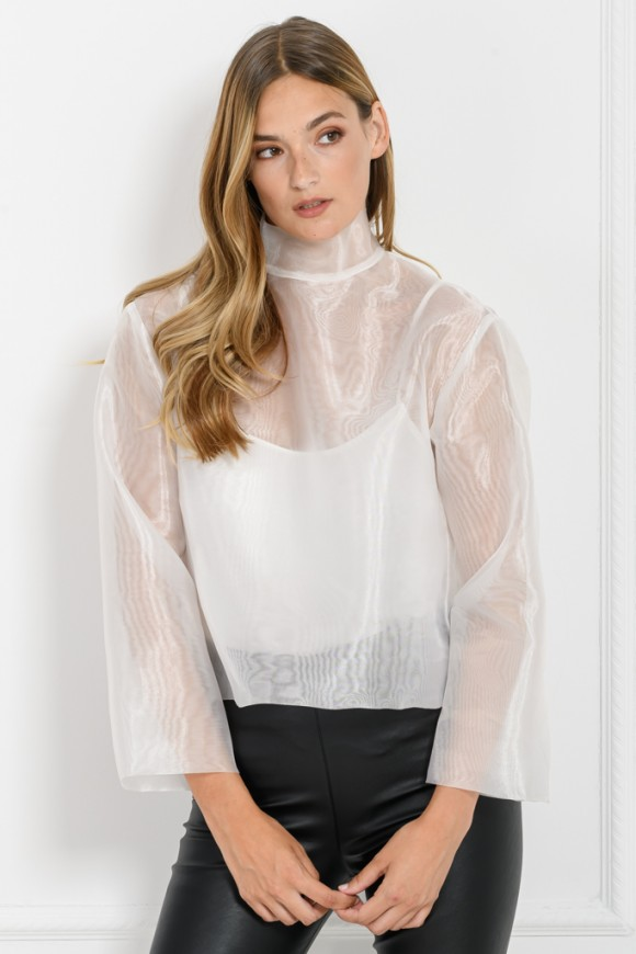 ORGANZA TOP WHITE