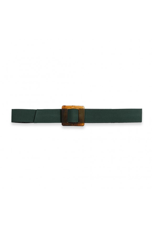 Turtle Shell Buckle Belt Green Os
