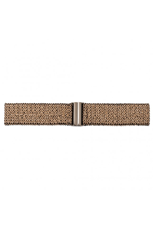 KNIT BELT BRONZE OS