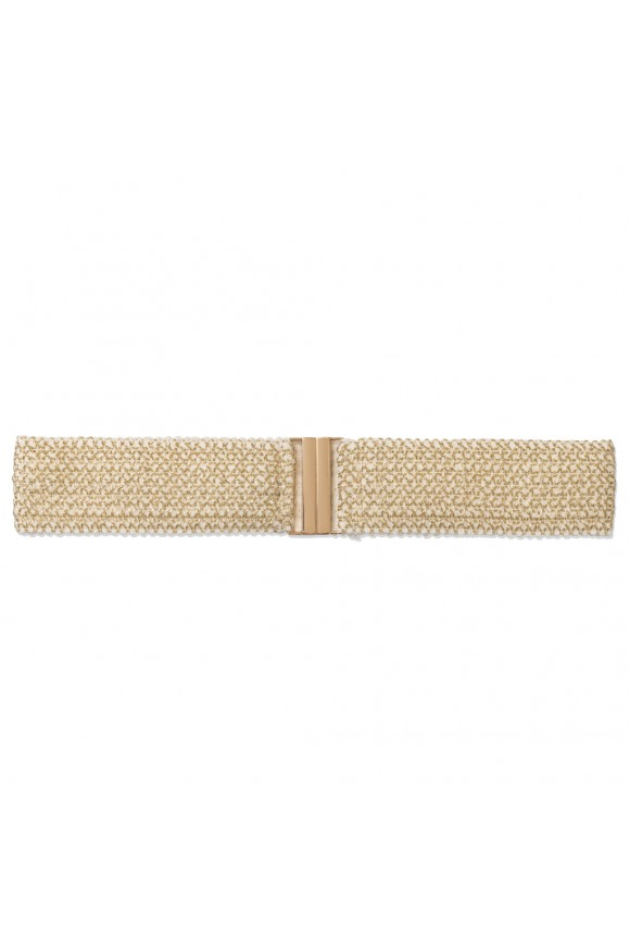 KNIT BELT WHITE OS