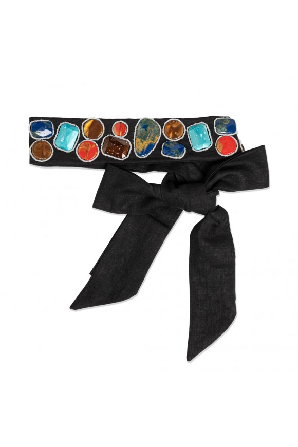 MULTICOLOR BELT BLACK OS