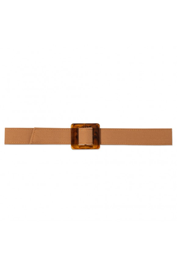 TURTLE SHELL BELT CARAMEL OS