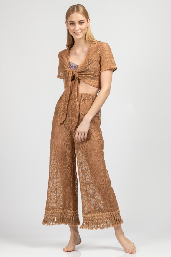 Lace Pants Terracotta Os