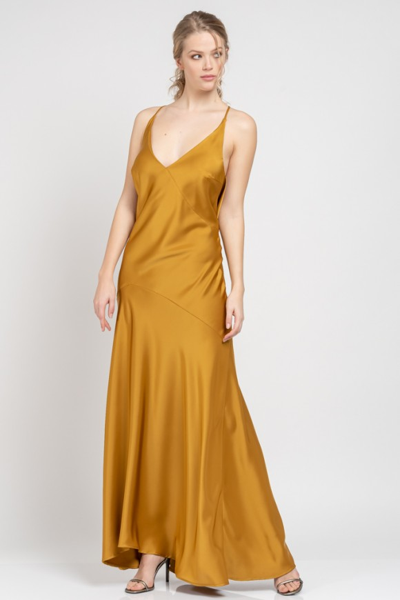 DRAPE DRESS GOLD OS