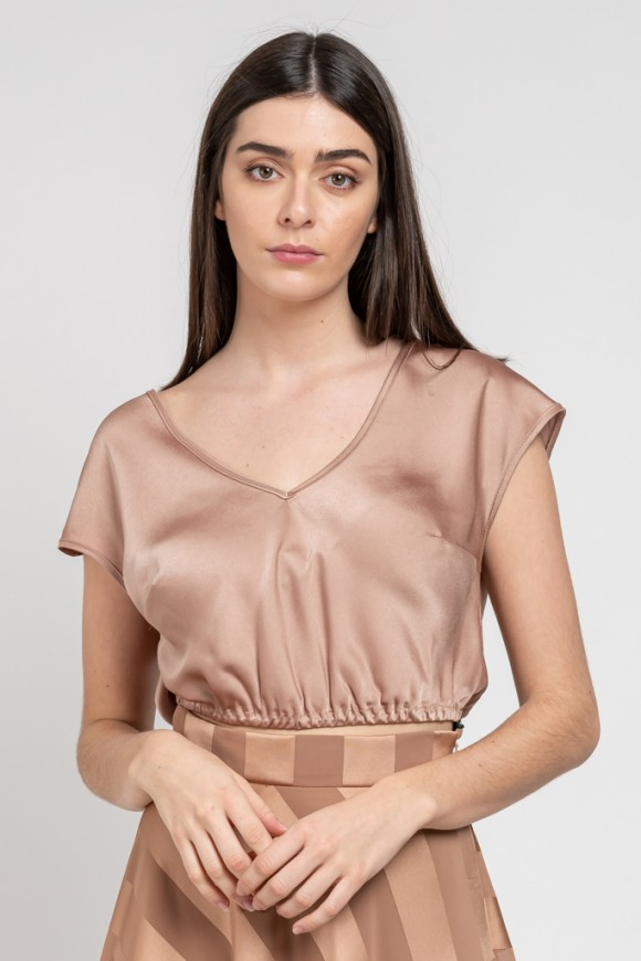 SILKY BLOUSE GOLD