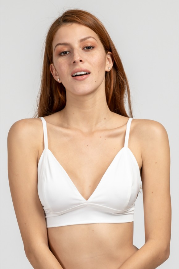 Triangle Bralet White Os