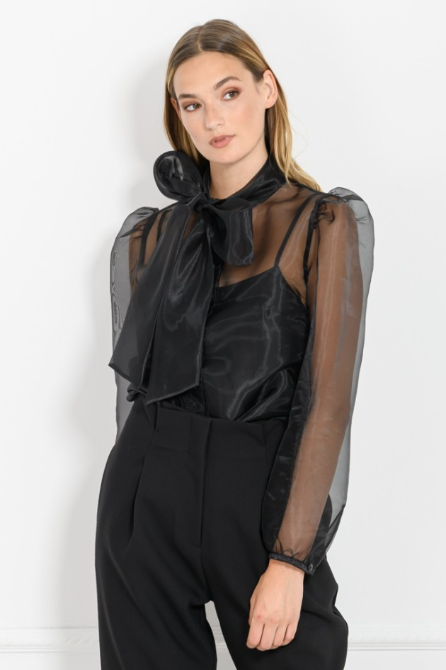 ORGANZA SHIRT BLACK