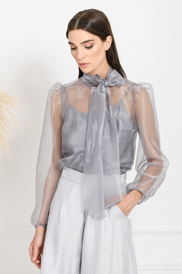 ORGANZA SHIRT GREY