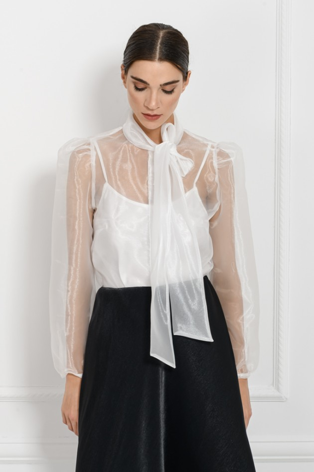 ORGANZA SHIRT WHITE