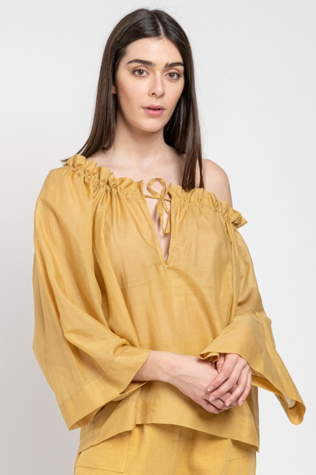 SILK TUNIQUE MUSTARD OS