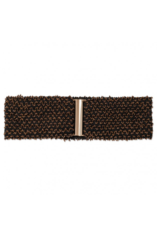 BEADED BRONZE BELT