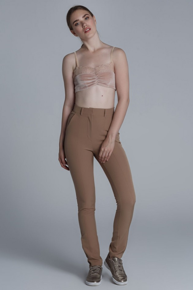 Slim Fit Pants Beige